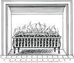 Free Clipart Of A Fireplace