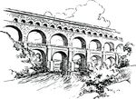 Free Clipart Of An Aqueduct