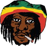 Free Clipart Of A Portrait Of Bob Marly Smoking A Joint