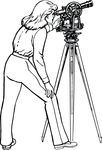 Free Clipart Of A Retro Black And White Woman Using A Transit