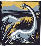Free Clipart Of A Brontosaurus Dinosaur