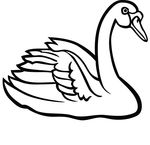 Free Clipart Of A Swan