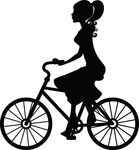 Free Clipart Of A Woman Riding A Bicycle
