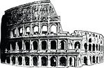 Free Clipart Of A Coliseum