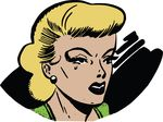 Free Clipart Of A Pop Art Comic Styled Woman Crying