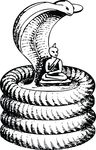 Free Clipart Of A Buddha And Snake