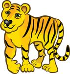 Free Clipart Of A Tiger