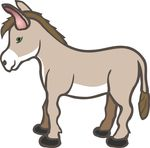 Free Clipart Of A Donkey