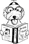 Free Clipart Of A Dog Reading A Book About Cats