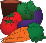 Free Clipart Of A Still Life Of Produce