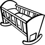 Free Clipart Of A Baby Crib