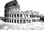 Free Clipart Of A Colosseum