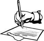 Free Clipart Of A Hand Signing A Lease