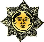 Free Clipart Of A Sun Face