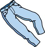 Free Clipart Of A Pair Of Jeans