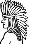 Free Clipart Of A Native American Indian