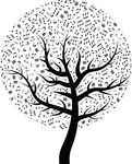 Free Clipart Of A Music Tree
