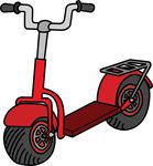 Free Clipart Of A Scooter