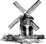 Free Clipart Of A Windmill