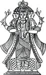 Free Clipart Of A Shiva Diety
