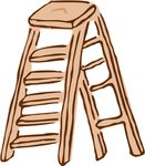 Free Clipart Of A Step Ladder