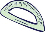 Free Clipart Of A Protractor