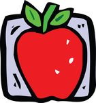Free Clipart Of A Red Apple