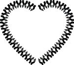 Free Clipart Of A Heart Hands Frame