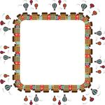 Free Clipart Of A Hot Air Balloon Festival City Frame