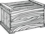 Free Clipart Of A Wooden Crate