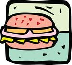 Free Clipart Of A Cheeseburger