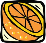Free Clipart Of A Navel Orange