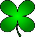 Free Clipart Of A Gradient Green St Paddys Day Shamrock Clover