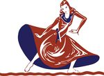 Free Clipart Of A Dancing Lady