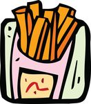 Free Clipart Of A Carton Of Fries