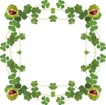 Free Clipart Of A St Patricks Day Border Of Shamrock Clovers