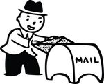 Free Clipart Of A Man Putting Mail In A Drop Box