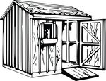Free Clipart Of A Shed