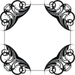 Free Clipart Of A Frame Design Element