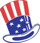 Free Clipart Of An American Top Hat