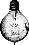 Free Clipart Of A Vintage Light Bulb