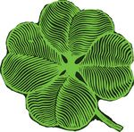 Free Clipart Of A St Paddys Day Shamrock Four Leaf Clover