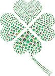 Free Clipart Of A Patterned St Paddys Day Shamrock Four Leaf Clover