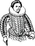 Free Clipart Of A Man Wearing A Doublet