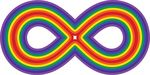 Free Clipart Of A Rainbow Infinity Symbol