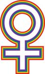 Free Clipart Of A Rainbow Female Gender Symbol
