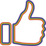 Free Clipart Of A Rainbow Thumb Up