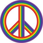 Free Clipart Of A Rainbow Peace Symbol
