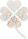 Free Clipart Of A Colorful Shamrock Formed Of Hearts