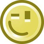 Free Winking Smiley Face Clip Art Illustration
